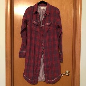 We The Free by Free People Flannel Shirt Dress